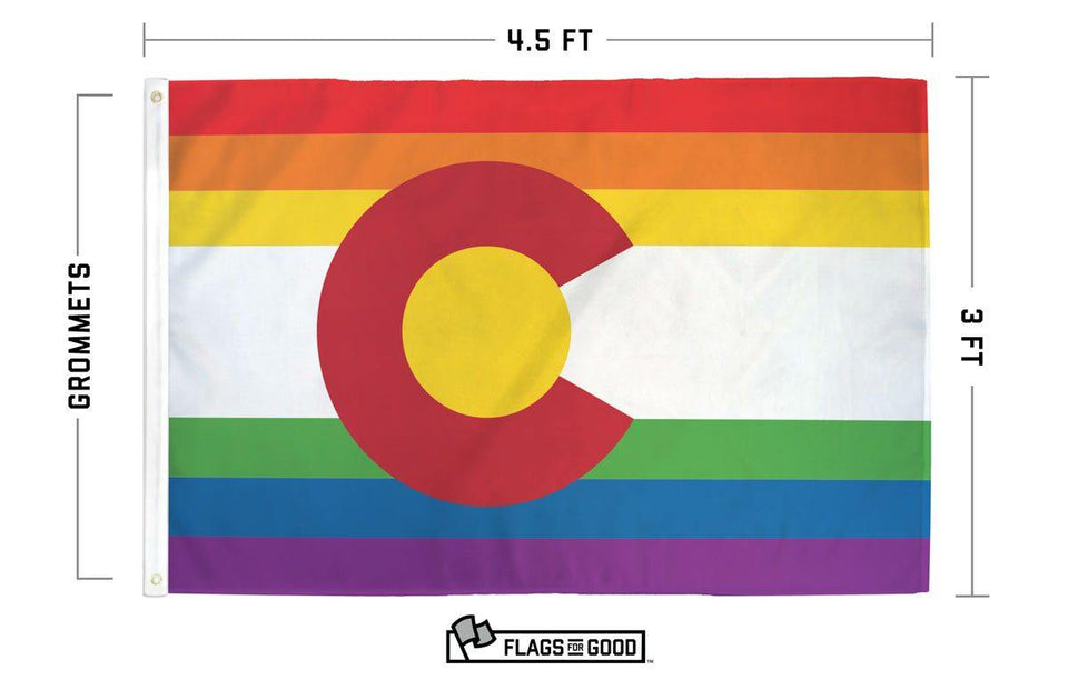 Rainbow Colorado Flag - Flags For Good