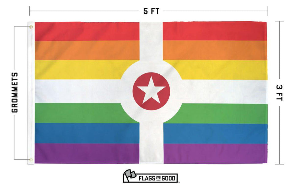 Rainbow Indianapolis Flag - Flags For Good