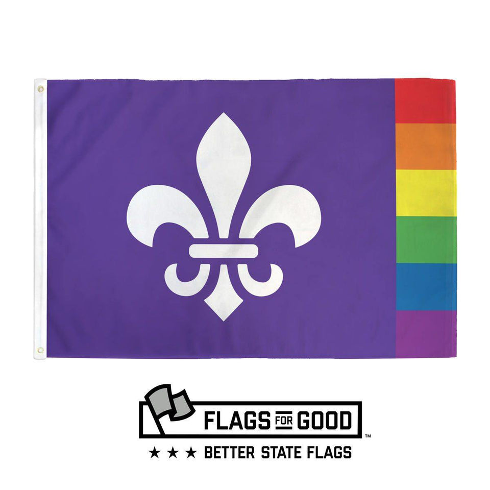 Rainbow Louisiana Flag - Flags For Good