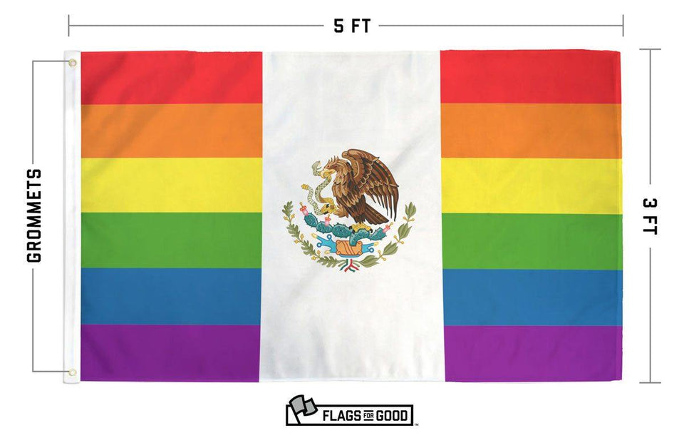 Rainbow Mexico Flag - Flags For Good