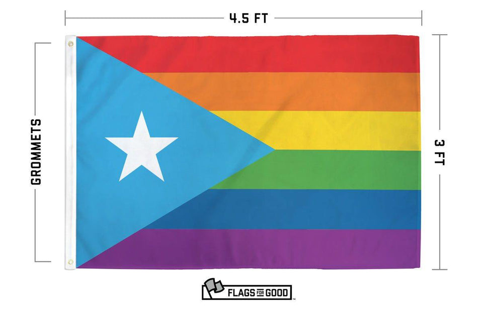 Rainbow Puerto Rico Flag - Flags For Good