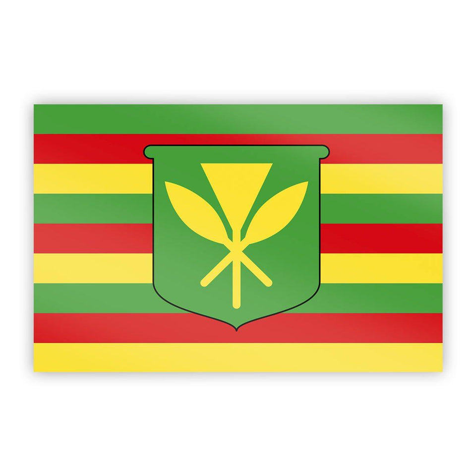"Hawaii ""Kanaka Maoli"" Flag Sticker - Flags For Good"