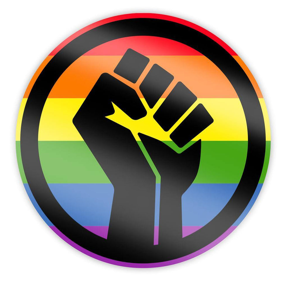 Black Lives Matter Pride Fist Sticker - Holographic - Flags For Good