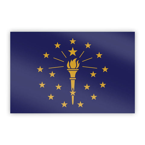 Indiana Flag Sticker - Flags For Good