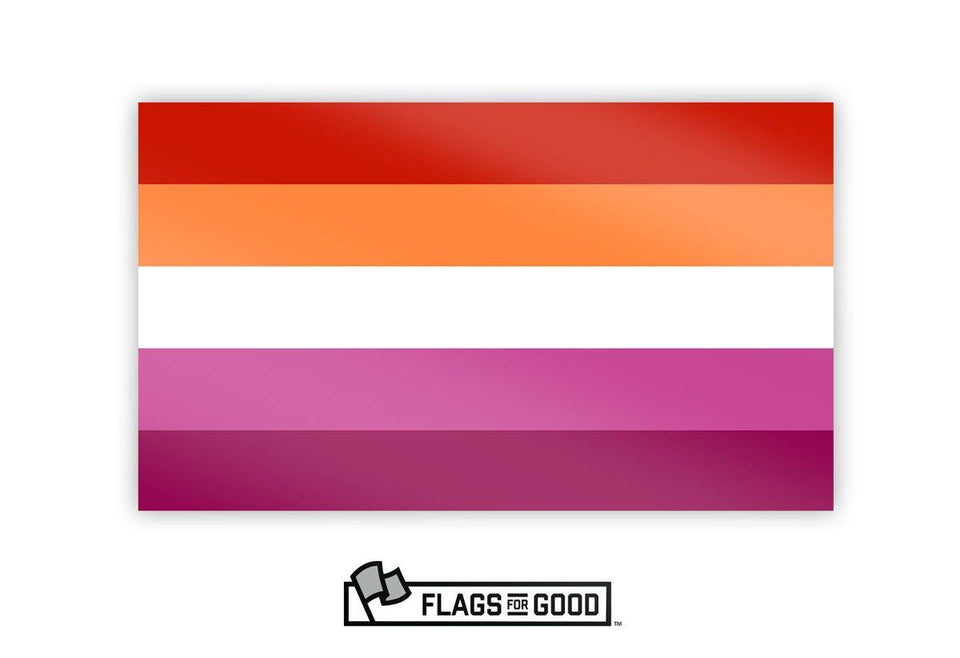 Lesbian Pride Sticker - Flags For Good