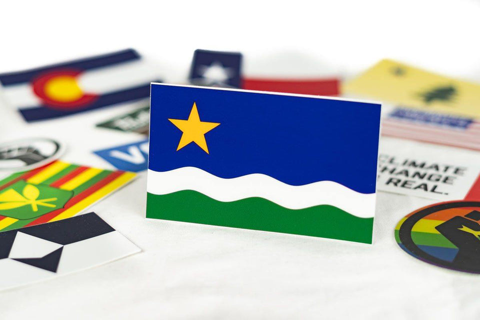 Minnesota North Star Flag Sticker - Flags For Good