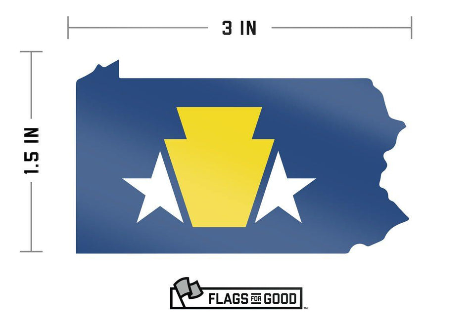 Pennsylvania Keystone Sticker - Flags For Good