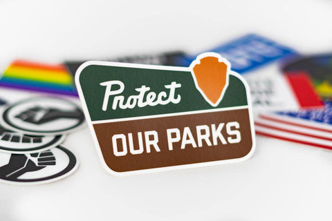 Protect Our Parks Sticker - Flags For Good
