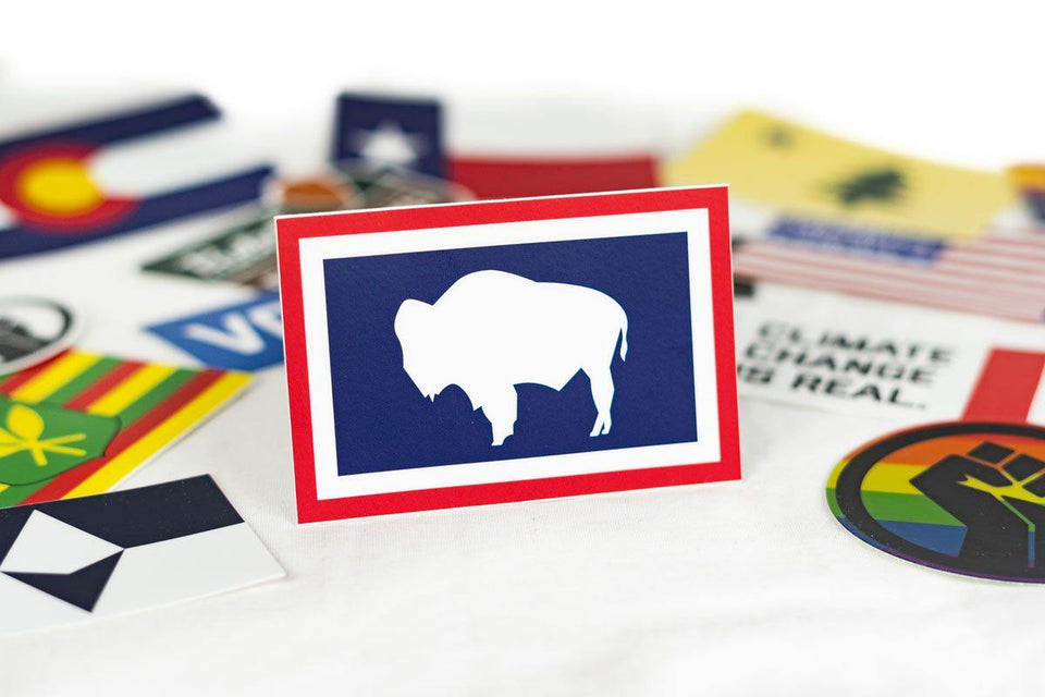 Wyoming Flag Sticker - Flags For Good