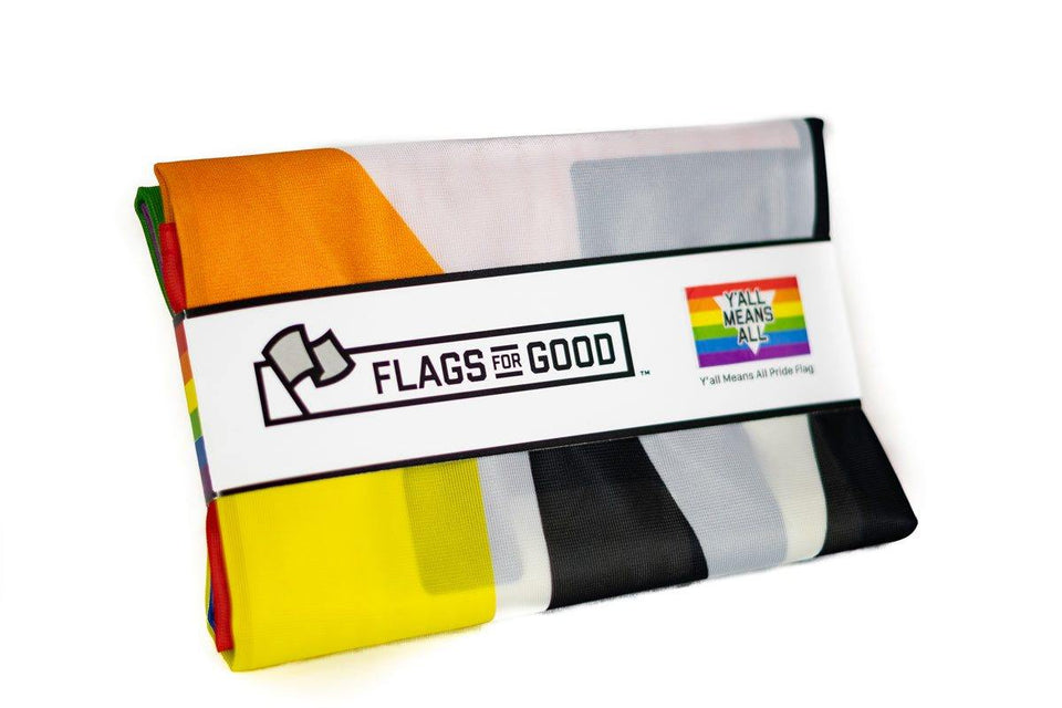 Y'all Means All Rainbow Flag - Flags For Good