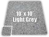 View of 10' x 10' Puzzle Mat Area in Light Gray