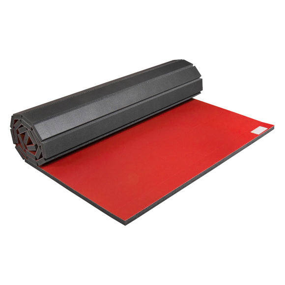 Partially Rolled Home Wrestling & Martial Arts Mat