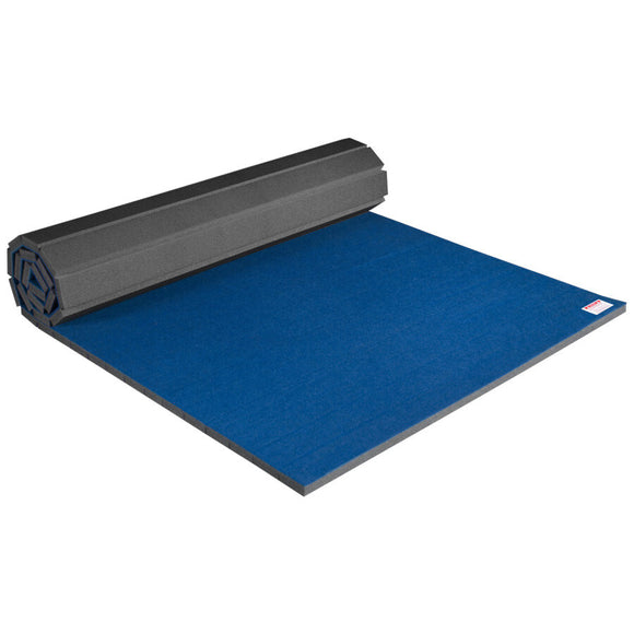 Partially Rolled 5' x 10' Home Carpet Bonded Foam Mat for Cheerleading & Gymnastics