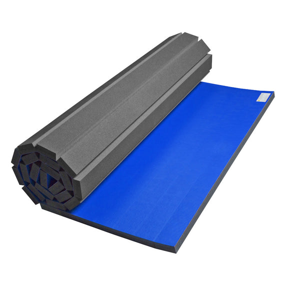 Partially Rolled 5' x 9' Vinyl Home Mat for Wrestling & Martial Arts
