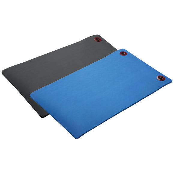 EcoWise Elite Workout Mat in Black and Blue