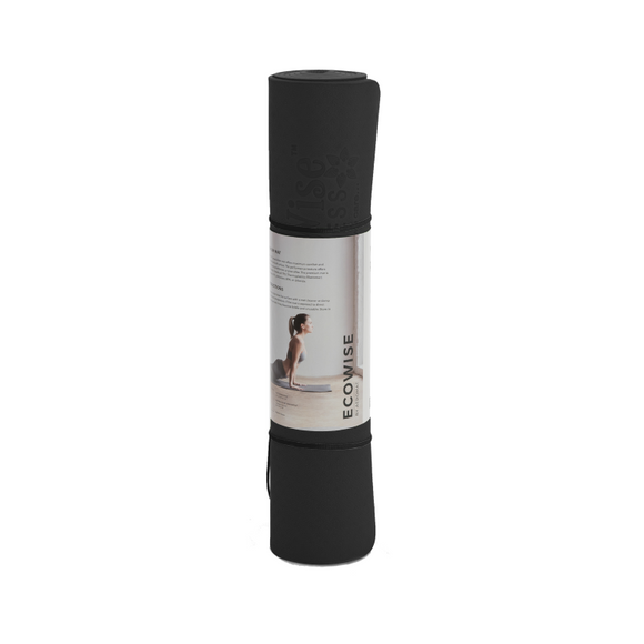 EcoWise Premium Yoga & Pilates Mat in Black