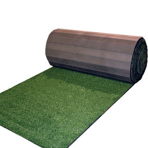 Partially rolled Indoor Turf Roll-Out Mat