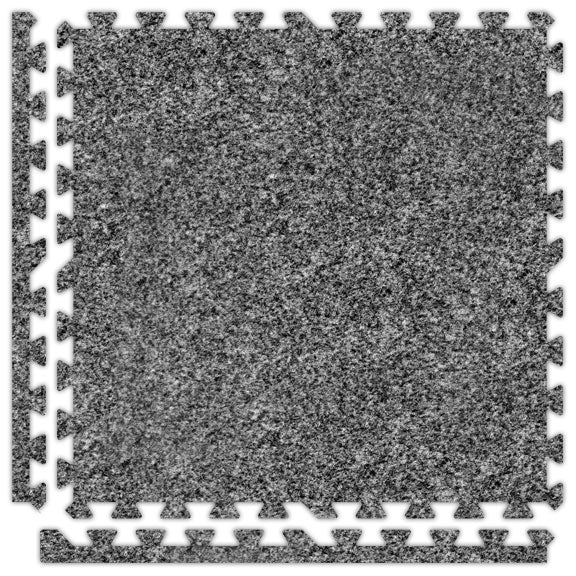 Premium Carpet Puzzle Mat in Light Gray