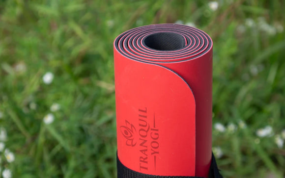 Oasis Essentials Premium Yoga Mat rolled up