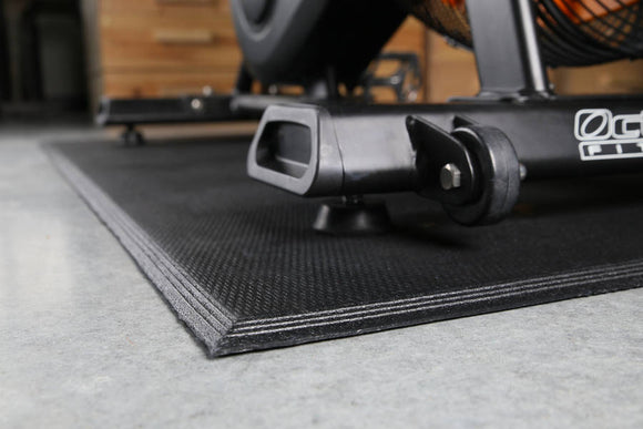 Corner View of SuperSport Fitness Equipment Mat