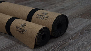 Two Tranquility Traveller Cork Yoga Mats