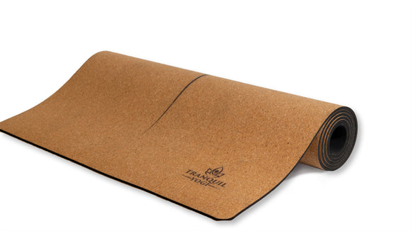 Tranquility Essential Yoga Mat Partially Rolled