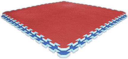 4' x 4' Double-Sided Puzzle Mat in Red and Royal Blue