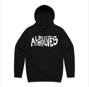 Albi & The Wolves logo hoody - black
