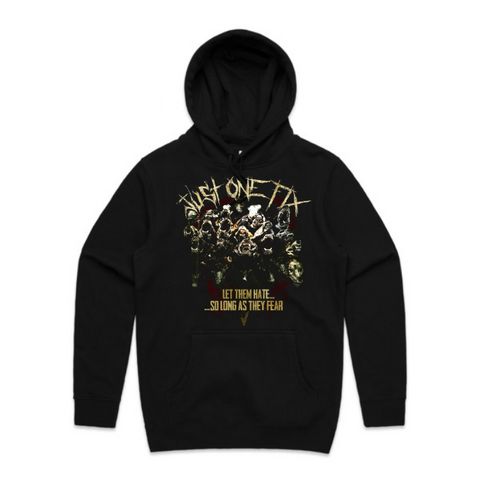 Just One Fix - Album cover skull hoody, black