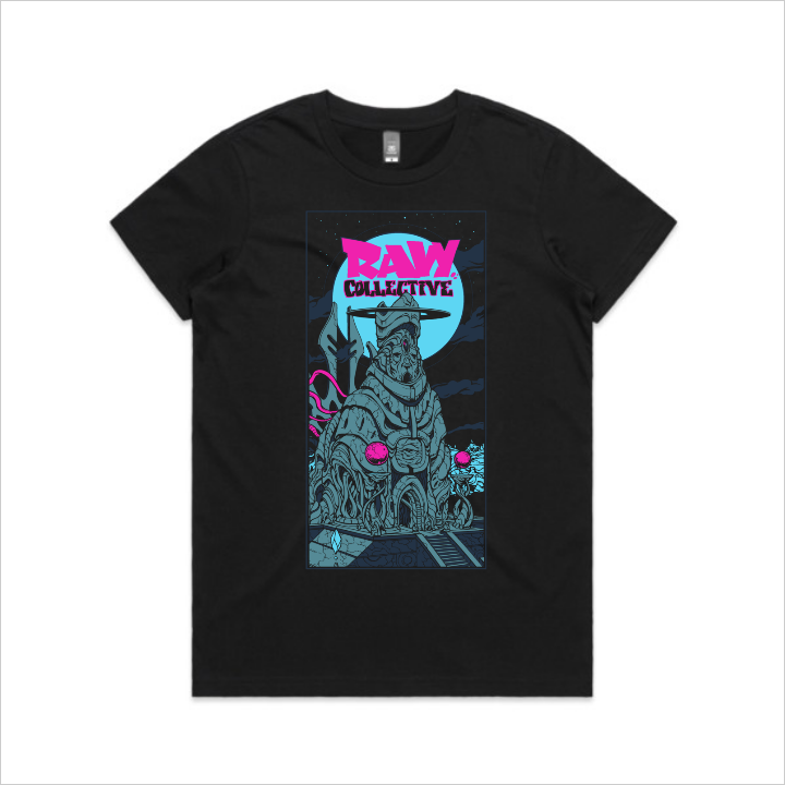 Raw Collective - Megalith tee, women's - black