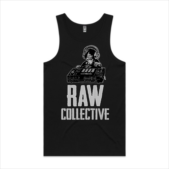 Raw Collective - Wise Horizon Monkey singlet, men's - black