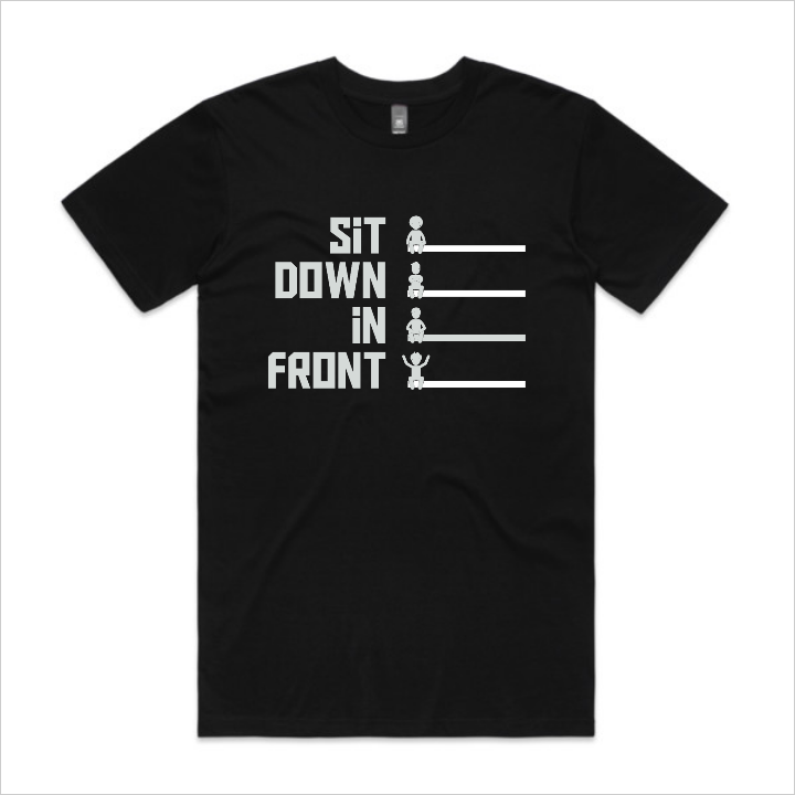 Sit Down In Front logo t-shirt, men's - black