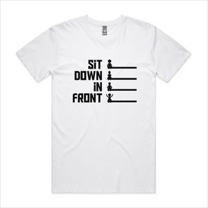 Sit Down In Front logo t-shirt, men's - white