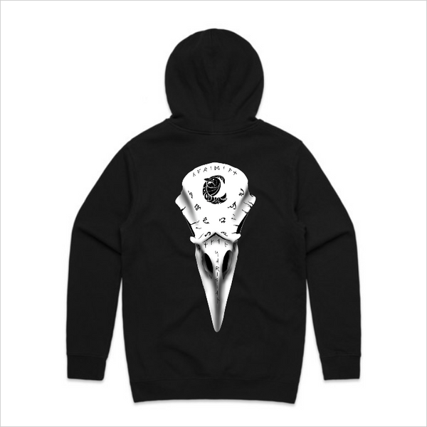 Coridian Skull Hoody - Front and back, black