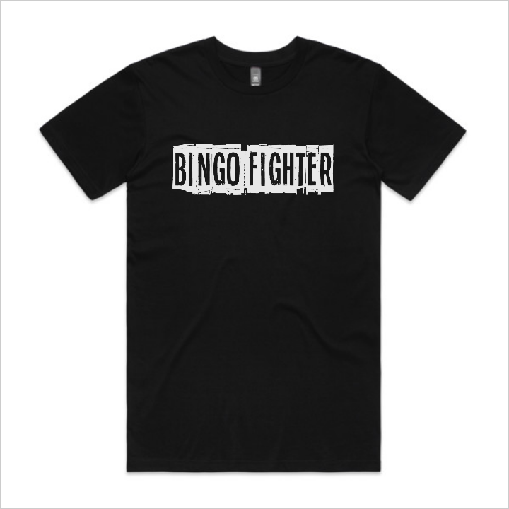 Bingo Fighter logo tee, men's - black