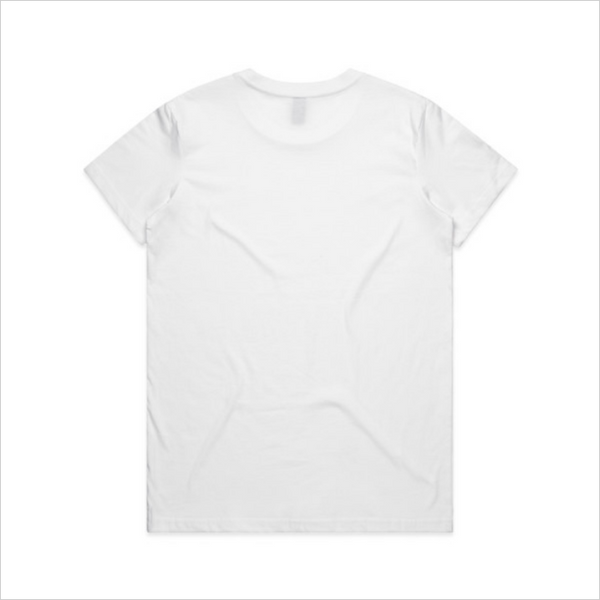Bingo Fighter logo tee, women's - white
