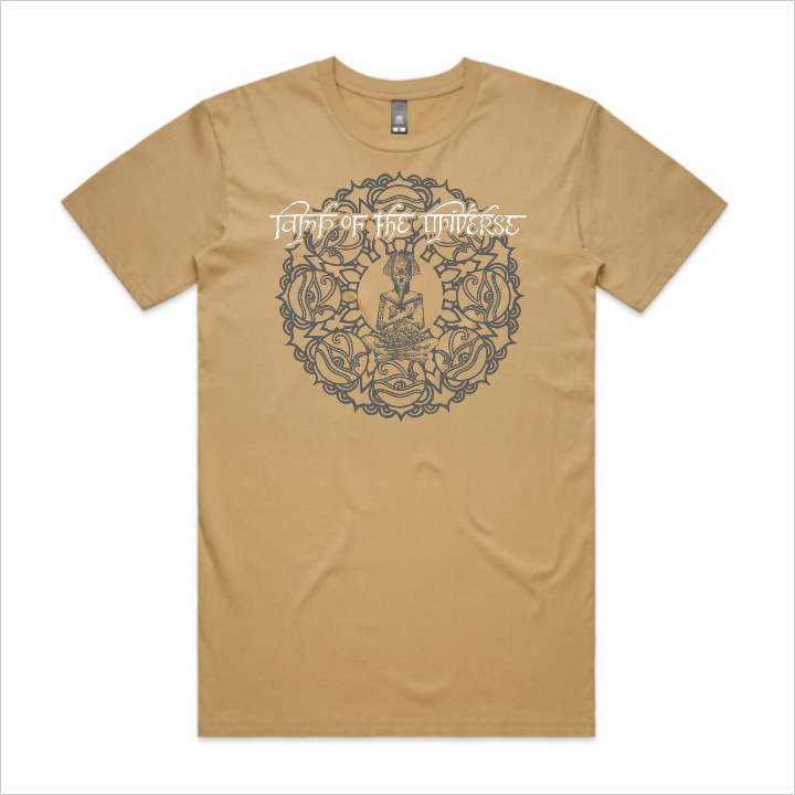 Lamp of the Universe tee, men's - tan