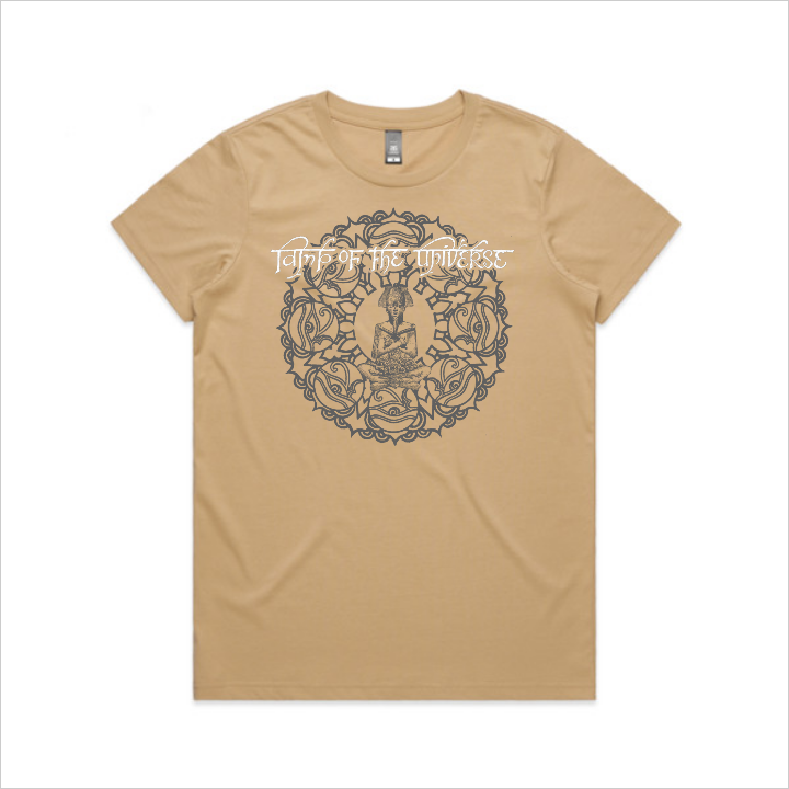 Lamp of the Universe tee, women's - tan