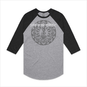 Lamp of the Universe long sleeve Raglan tee - grey