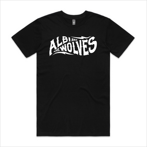 Albi & The Wolves logo tee, men's - black