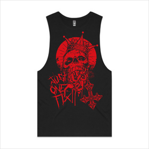 Just One Fix - Red skull tank, men's - black