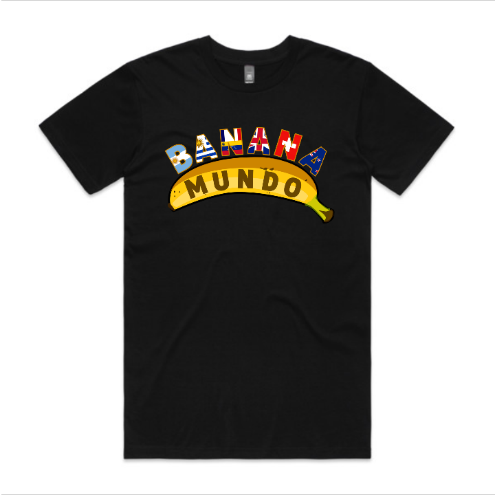 Banana Mundo tee, men's - black