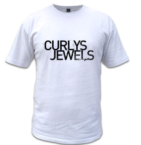 Curlys Jewels logo tee, men's - white