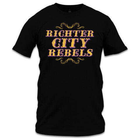 Richter City Rebels tee, men's - black