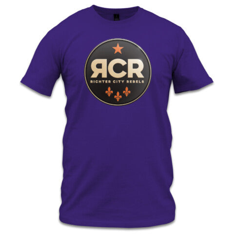 Richter City Rebels logo tee, men's - purple