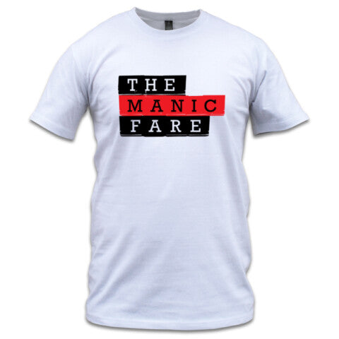 The Manic Fare logo tee, men's - white