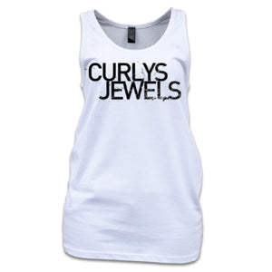 Curlys Jewels women's singlet - white