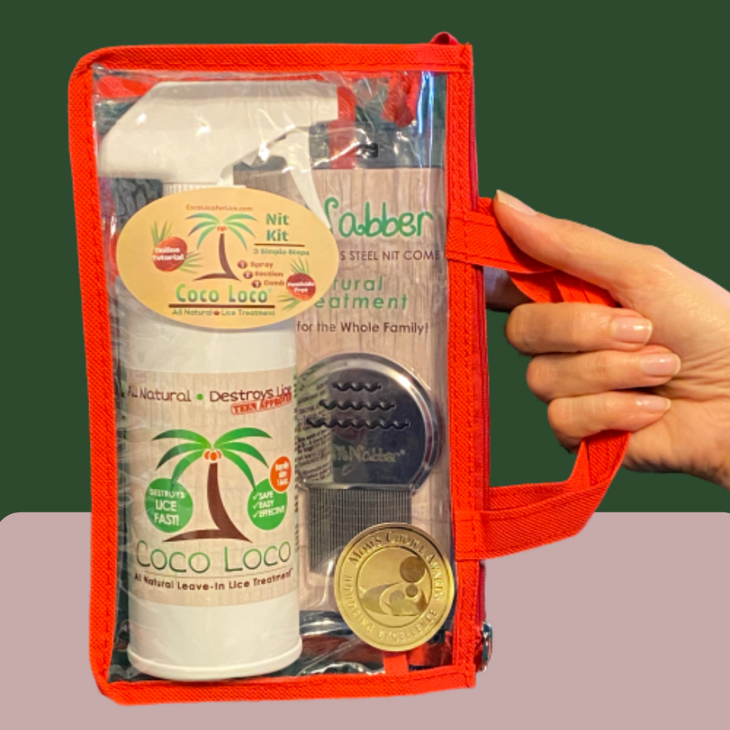 COCO LOCO NIT KIT: 16 OZ. COCO LOCO ALL NATURAL LICE TREATMENT-NITNABBER PROFESSIONAL LICE COMB