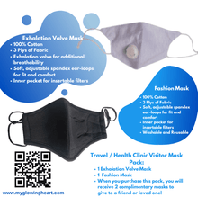 Load image into Gallery viewer, Travel / Health Facility Mask Bundle - The Glowing Heart Project