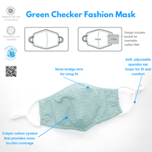 Load image into Gallery viewer, Washable, Reusable Fashion Face Mask + 4-Pack PM2.5 Filter Set - The Glowing Heart Project